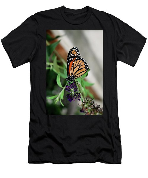 Men's T-Shirt (Slim Fit) featuring the photograph Spotted Butterfly by Cathy Harper