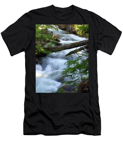 Sprague Creek Glacier National Park Men's T-Shirt (Athletic Fit)
