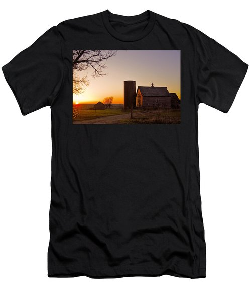 Spring At Birch Barn 2 Men's T-Shirt (Slim Fit) by Bonfire Photography