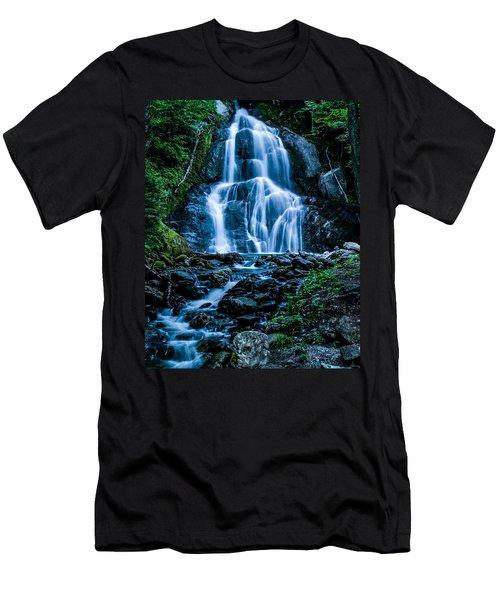 Spring At Moss Glen Falls Men's T-Shirt (Athletic Fit)