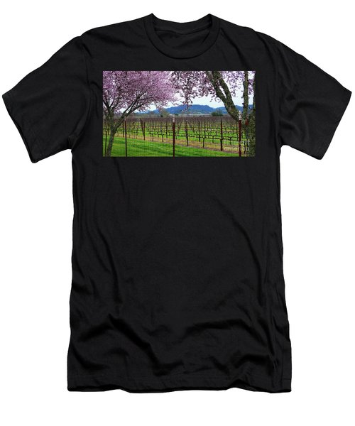 Spring Blossoms Near Calistoga Men's T-Shirt (Athletic Fit)