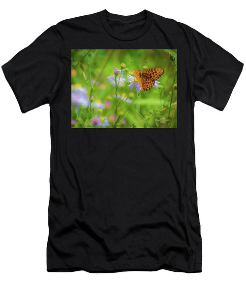 Spring Butterfly Men's T-Shirt (Athletic Fit)