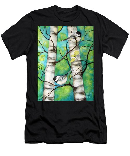 Spring Chickadees Men's T-Shirt (Athletic Fit)