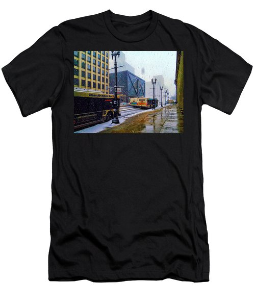 Spring Day In Chicago Men's T-Shirt (Slim Fit) by Dave Luebbert