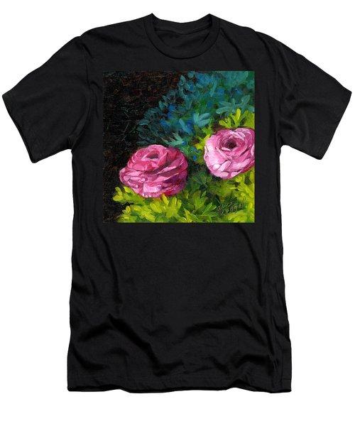 Spring Dewdrops Men's T-Shirt (Slim Fit) by Alice Leggett