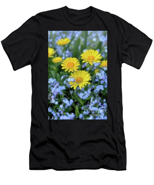 Spring Flowers Forget Me Nots And Leopard's Bane Men's T-Shirt (Athletic Fit)