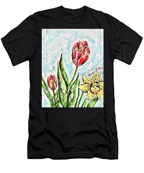 Spring Flowers Men's T-Shirt (Athletic Fit)
