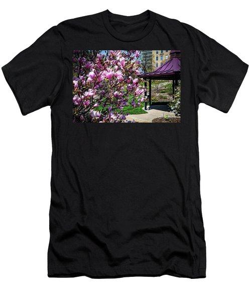 Spring Garden Men's T-Shirt (Slim Fit) by Deborah Klubertanz