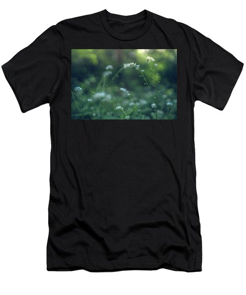 Men's T-Shirt (Athletic Fit) featuring the photograph Spring Garden Scene #1 by Gene Garnace