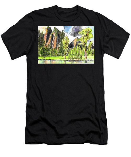 Spring In Yosemite Men's T-Shirt (Athletic Fit)