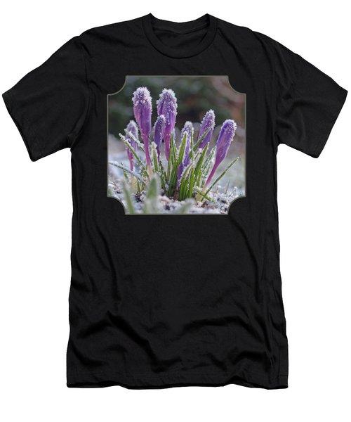 Spring Is Round The Corner -purple Crocus Men's T-Shirt (Athletic Fit)