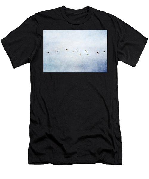 Spring Migration 2 - Textured Men's T-Shirt (Athletic Fit)