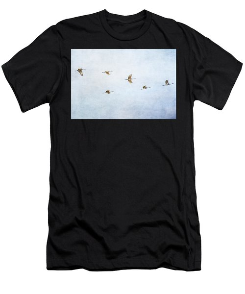 Spring Migration 4 - Textured Men's T-Shirt (Athletic Fit)