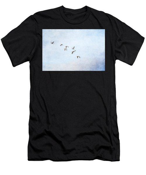 Spring Migration - Textured Men's T-Shirt (Athletic Fit)