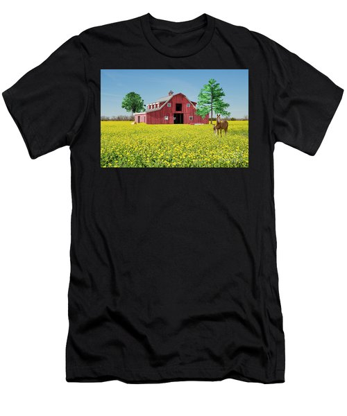 Spring On The Farm Men's T-Shirt (Slim Fit) by Bonnie Barry