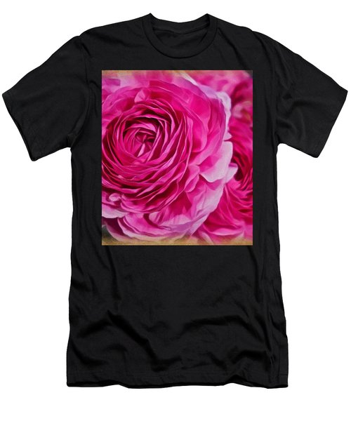 Spring Pink Roses Men's T-Shirt (Athletic Fit)