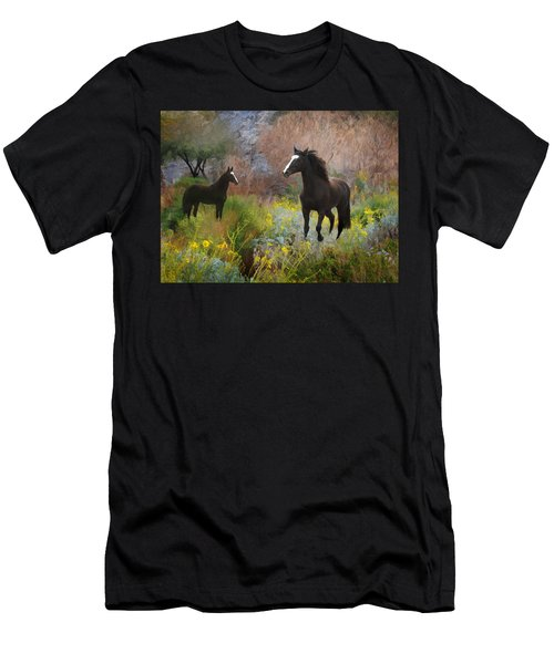 Men's T-Shirt (Athletic Fit) featuring the photograph Spring Play by Melinda Hughes-Berland