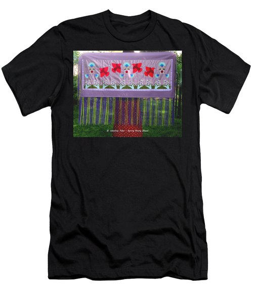 Men's T-Shirt (Athletic Fit) featuring the tapestry - textile Spring Rising by Chholing Taha