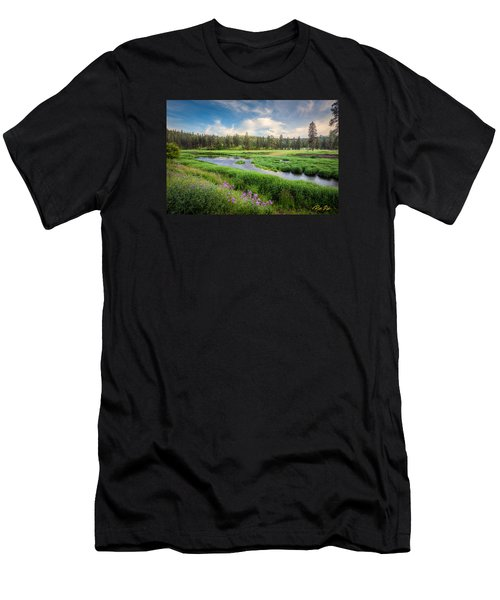 Men's T-Shirt (Athletic Fit) featuring the photograph Spring River Valley by Rikk Flohr