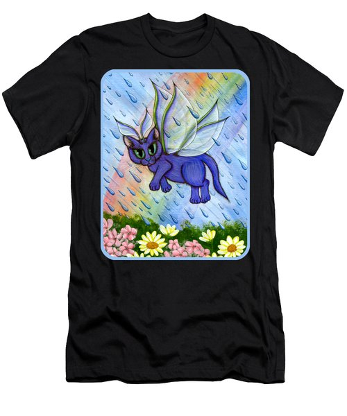 Spring Showers Fairy Cat Men's T-Shirt (Athletic Fit)