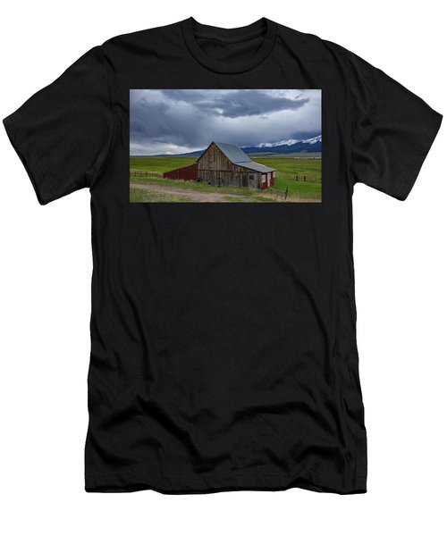 Spring Storm Looms Above The Wet Mountain Valley Men's T-Shirt (Athletic Fit)