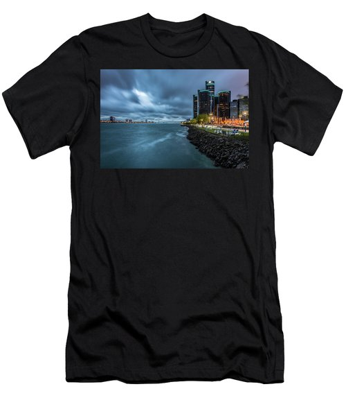Storm Season In Detroit  Men's T-Shirt (Athletic Fit)