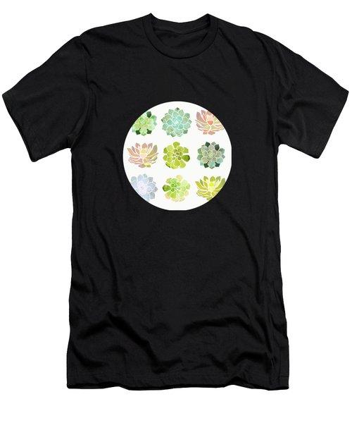 Spring Succulents Men's T-Shirt (Athletic Fit)