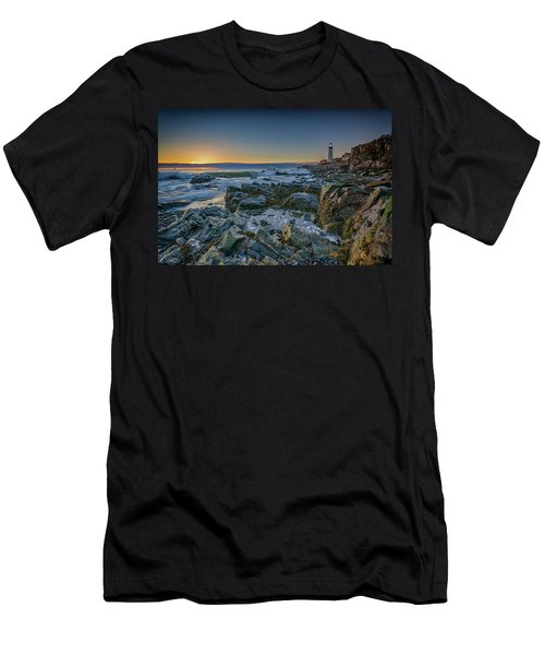 Men's T-Shirt (Slim Fit) featuring the photograph Spring Sunrise At Portland Head by Rick Berk