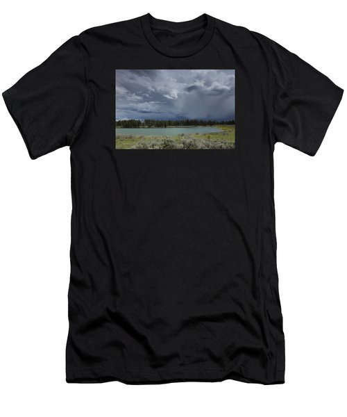 Spring Thunderstorm At Yellowstone Men's T-Shirt (Athletic Fit)