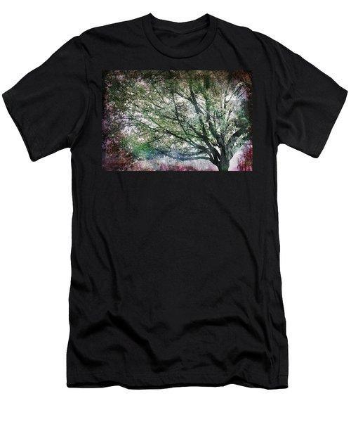 Men's T-Shirt (Slim Fit) featuring the painting Spring Tree by Gray  Artus