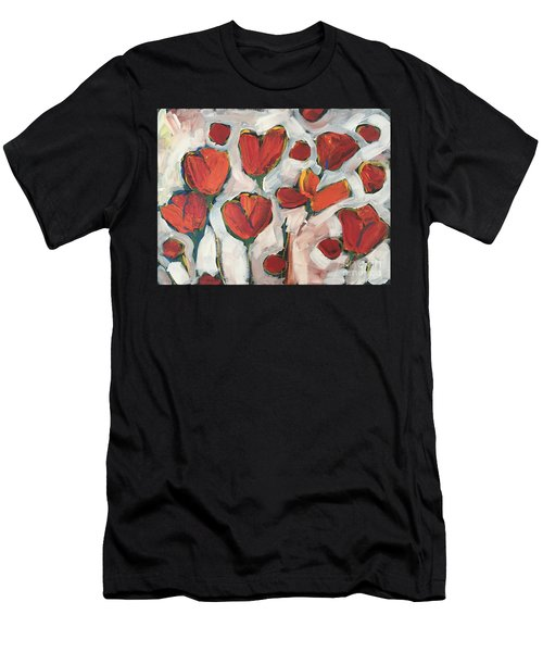 Spring Tulip Garden Men's T-Shirt (Athletic Fit)
