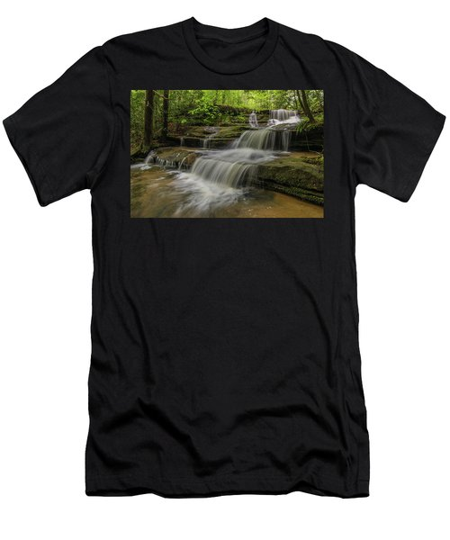 Spring Waterfall. Men's T-Shirt (Slim Fit) by Ulrich Burkhalter