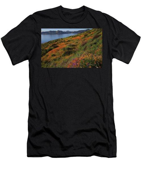 Spring Wildflower Season At Diamond Lake In California Men's T-Shirt (Athletic Fit)