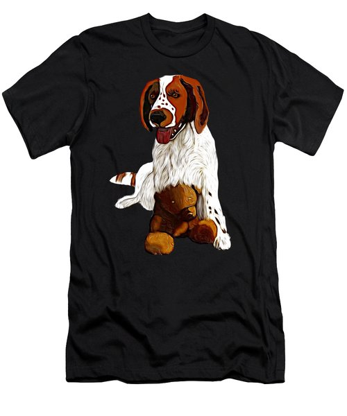 Springer Spaniel And Teddy Bear Men's T-Shirt (Athletic Fit)
