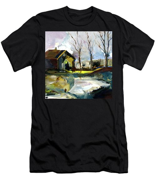 Springtime Barn Men's T-Shirt (Athletic Fit)