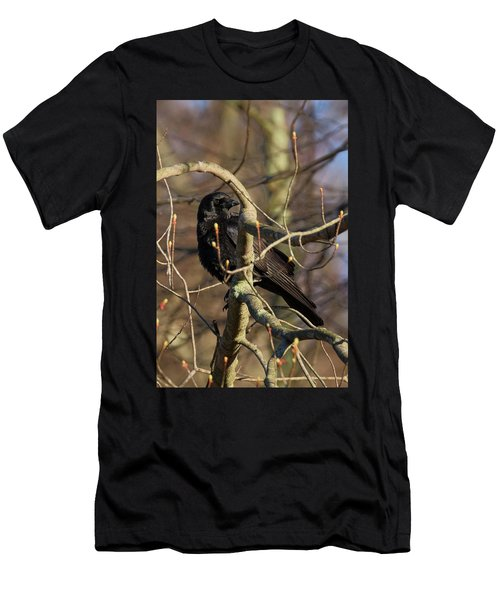 Men's T-Shirt (Slim Fit) featuring the photograph Springtime Crow by Bill Wakeley