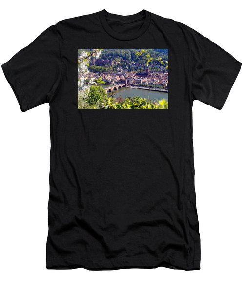 springtime in Heidelberg Men's T-Shirt (Slim Fit) by Rudi Prott