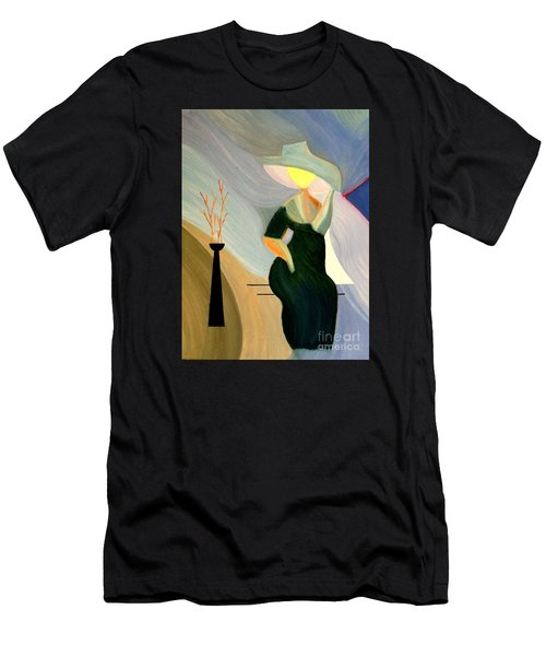 Men's T-Shirt (Slim Fit) featuring the painting Springtime In Paris by Bill OConnor