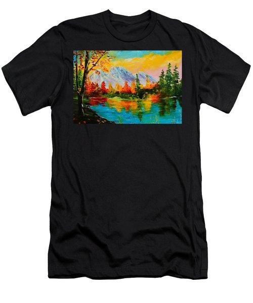 Springtime Reflections Men's T-Shirt (Athletic Fit)