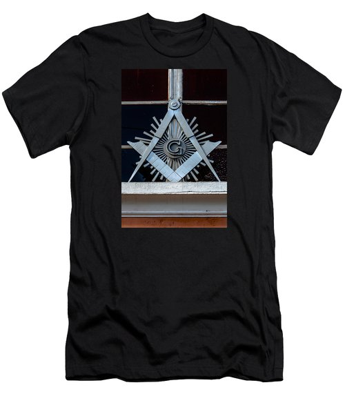 Square And Compass Men's T-Shirt (Athletic Fit)