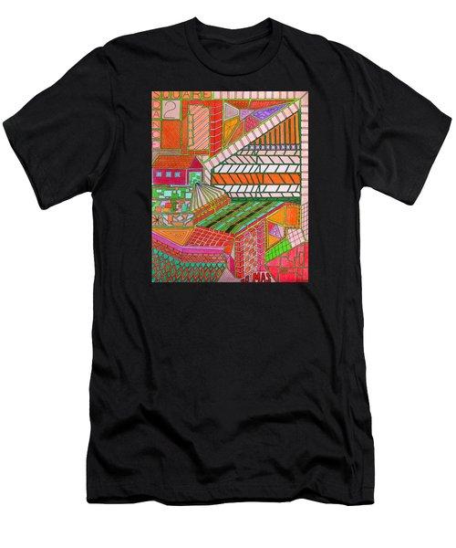 Square Dance 2 Men's T-Shirt (Athletic Fit)