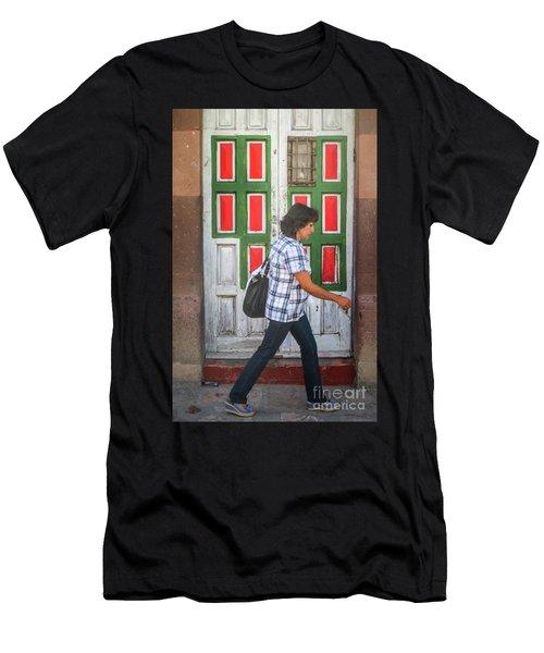 Square Design Men's T-Shirt (Athletic Fit)