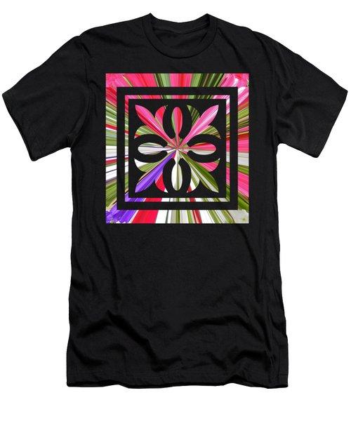 Square Ornament Cutout Men's T-Shirt (Athletic Fit)