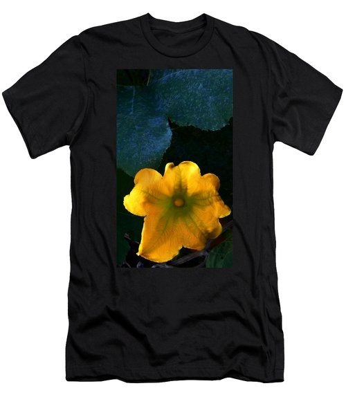 Men's T-Shirt (Slim Fit) featuring the photograph Squash Blossom by Lenore Senior