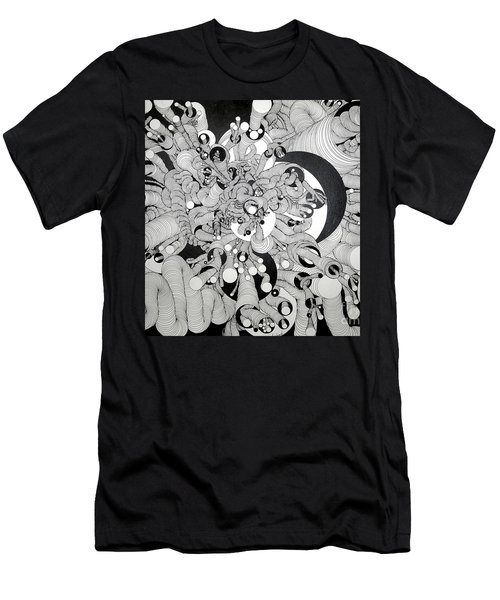 Squiggle Art By Amy Men's T-Shirt (Athletic Fit)