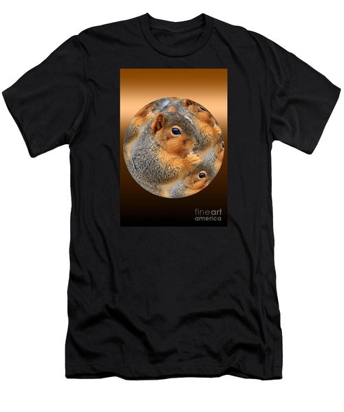 Squirrel In A Ball No.3 Men's T-Shirt (Athletic Fit)