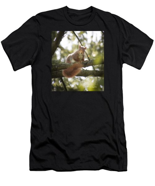 Men's T-Shirt (Athletic Fit) featuring the photograph Squirrel On The Spot by Stwayne Keubrick