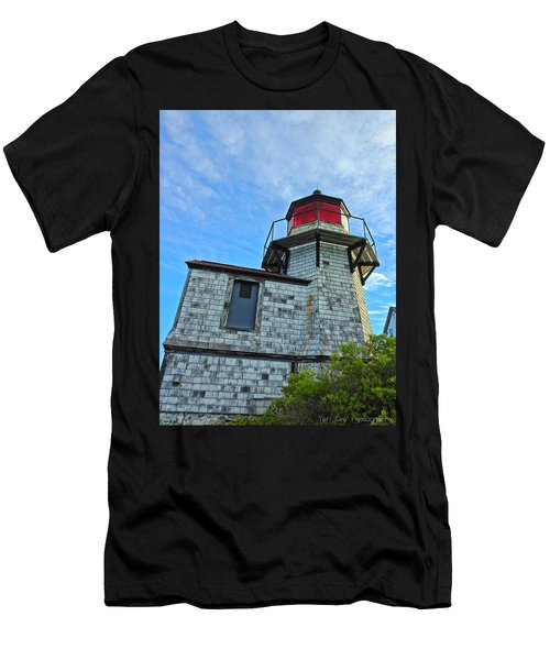 Squirrel Point Lighthouse Men's T-Shirt (Athletic Fit)