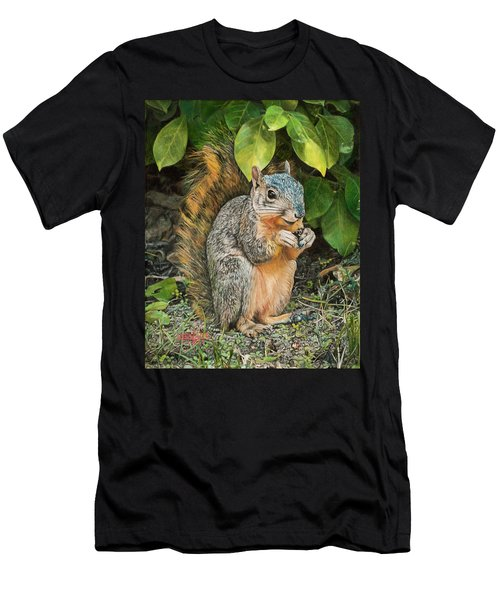 Squirrel Under Bush Men's T-Shirt (Athletic Fit)