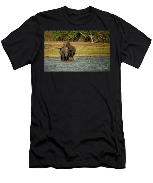 Sri Lankan Elephants  Men's T-Shirt (Athletic Fit)